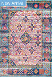 Nuloom Dorine Diamond Light Blue Area Rug
