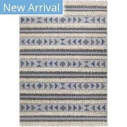 Orian Navajo Dancing Feet Blue Area Rug