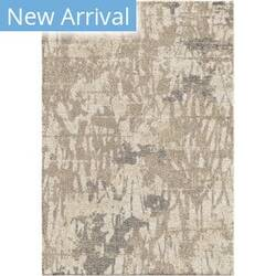 Orian Super Shag Abstract Canopy Ivory Area Rug