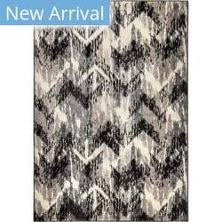 Orian American Heritage Distressed Chevron Grey Area Rug