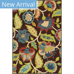 Orian Veranda Ethridge Brown Area Rug