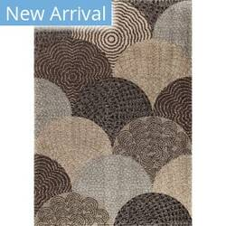 Orian Wild Weave Oystershell Seal Black Area Rug