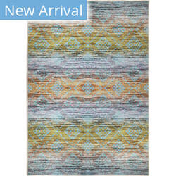 Orian Transitions Multi Colored Western Aqua Area Rug