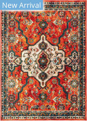 Oriental Weavers Sedona 9589a Orange - Blue Area Rug