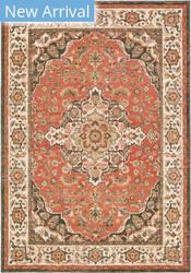 Oriental Weavers Toscana 9551b Orange - Ivory Area Rug