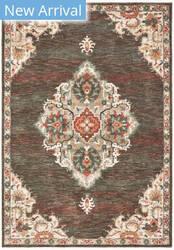Oriental Weavers Toscana 9568c Charcoal - Orange Area Rug