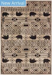 Oriental Weavers Woodlands 9651a Ivory - Black Area Rug