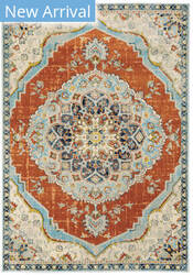 Oriental Weavers Xanadu 1332q Orange - Blue Area Rug