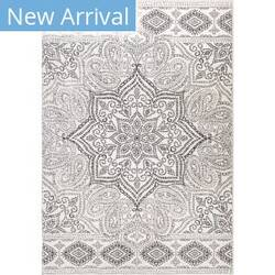 Palmetto Living Adagio Paisley Points White Area Rug