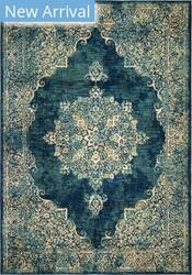 Palmetto Living Alexandria Distressed Lace Kirman Blue Area Rug
