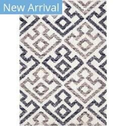 Palmetto Living Cotton Tail Geo Diamond Blue Natural Area Rug