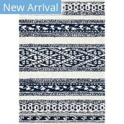 Palmetto Living Cotton Tail Tribal Stripe Navy Area Rug