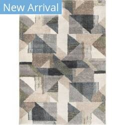 Palmetto Living Mystical Deco Town Muted Blue Area Rug