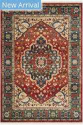 Ralph Lauren Power Loomed Lrl1221a Red - Navy Area Rug