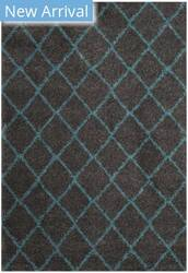 Safavieh Arizona Shag Asg742k Grey - Turquoise Area Rug