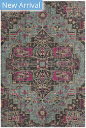 Safavieh Artisan Atn511l Light Blue - Black Area Rug