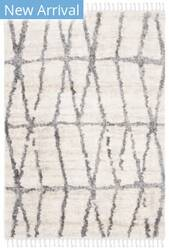 Safavieh Berber Fringe Shag Bfg605a Cream - Grey Area Rug
