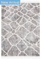 Safavieh Berber Fringe Shag Bfg629f Grey - Cream Area Rug