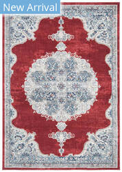 Safavieh Brentwood Bnt867q Red - Ivory Area Rug