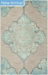 Safavieh Dip Dye Ddy510c Grey - Turquoise Area Rug