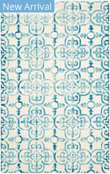 Rugstudio Sample Sale 155184R Ivory - Turquoise Area Rug