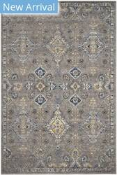 Rugstudio Sample Sale 143332R Dark Grey - Yellow Area Rug