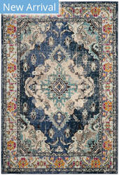 Safavieh Monaco Mnc243n Navy - Light Blue Area Rug