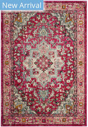 Safavieh Monaco Mnc250j Fuchsia - Light Blue Area Rug