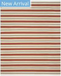 Ralph Lauren Hand Woven Rlr2462c Terry White - Racing Red Area Rug