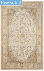 Ralph Lauren Hand Knotted Rlr6953a Ivory - Gold Area Rug