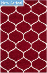 Safavieh Hudson Shag Sgh280r Red - Ivory Area Rug