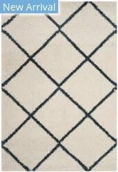 Safavieh Hudson Shag Sgh281t Ivory - Slate Blue Area Rug