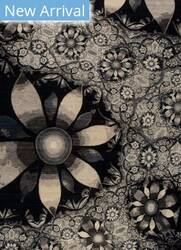 Samad Art Tec Bloom Black Area Rug