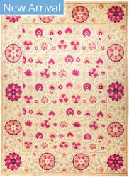 Solo Rugs Suzani M1891-155 Pinks Area Rug