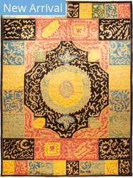 Solo Rugs Kaitag M1891-391 Yellows Area Rug