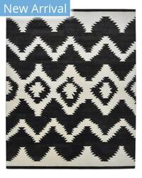 Luxor Lane Knotted Yol-S3127 Black Area Rug