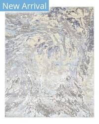 Luxor Lane Knotted Glo-S3207 Gray - Sky Blue Area Rug