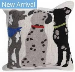 Trans-Ocean Frontporch Pillow Three Dogs 4267/44 Multi