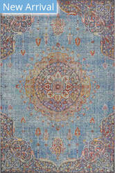 Trans-Ocean Beaux Circle Medallion 7342/04 Blue Area Rug