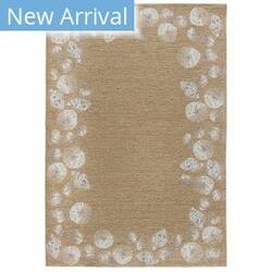 Trans-Ocean Capri Seashell Border 1723/12 Natural Area Rug