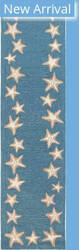 Trans-Ocean Capri Starfish Border 1710/04 Blue Area Rug