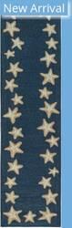 Trans-Ocean Capri Starfish Border 1710/33 Blue Area Rug