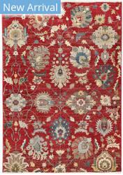 Trans-Ocean Calais Vintage Floral 6079/24 Red Area Rug
