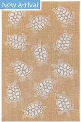 Trans-Ocean Carmel Seaturtles 8413/12 Natural Area Rug