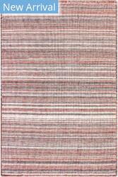 Trans-Ocean Dakota Stripe 6147/17 Brick Area Rug
