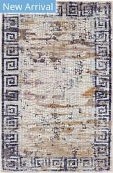 Trans-Ocean Jasmine Greek Key 7017/02 Ivory Area Rug