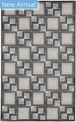 Trans-Ocean Lhasa Boxes 2708/48 Charcoal Area Rug