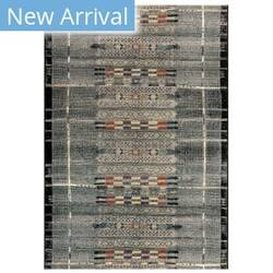 Trans-Ocean Marina Tribal Stripe 8057/48 Black Area Rug