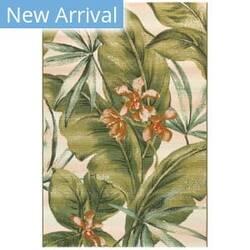 Trans-Ocean Marina Tropical Leaf 8064/12 Ivory Area Rug