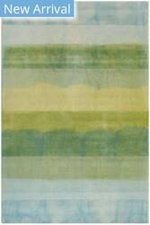 Trans-Ocean Piazza Textured Stripe 7286/04 Sea Breeze Area Rug